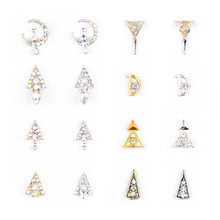 1 pc Nail Alloy Decoration Pendant Accessories Moon Flower Art Manicure Strass Rhinestones NHY