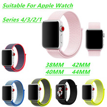 Apple Watch Band Sports Nylon Loop Strap For Watch4/3/2/1 Lightweight Breathable Iwatch Series44/42/40/38mm