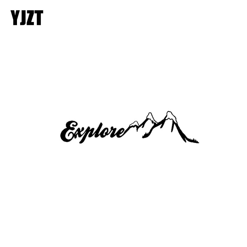 YJZT 17.8CM*4.2CM Explorer Adventure Vinyl Motorcycle Personality Car Sticker Decals Black/Silver C13-000392