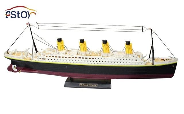Barco DO RC Escala 1:325 Titanic Mar Grande Navio de Cruzeiro Titanic 3D Clássico Do Século Amor Navio RC Alta Simulação Grande Brinquedos