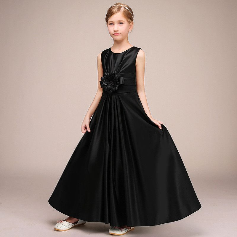 2019 New Children Elegant Princess Wedding Party Dress Baby Girl Pleated Formal Prom Gown Kids Girl First Communion Vestido Q6872019 New Children Elegant Princess Wedding Party Dress Baby Girl Pleated Formal Prom Gown Kids Girl First Communion Vestido Q687