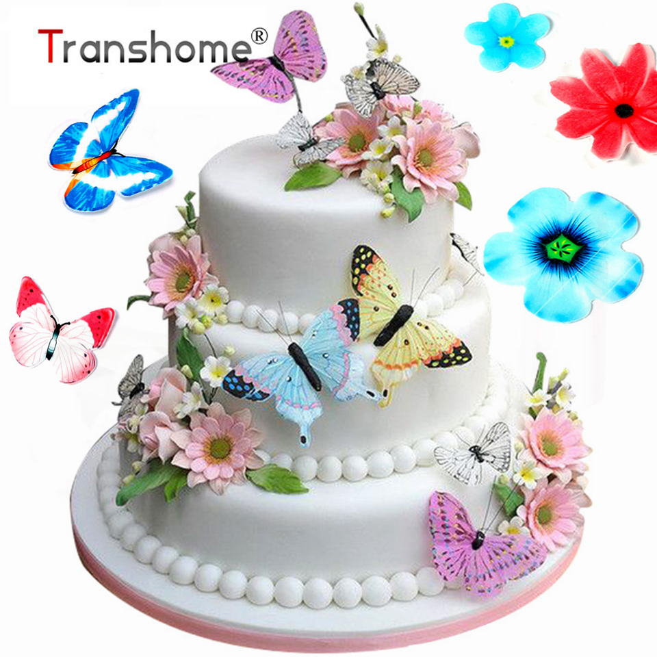 Miraculous Transhome Cake Decorating Tools 30 Pcs Set Butterfly Edible Personalised Birthday Cards Akebfashionlily Jamesorg