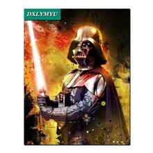 Star Wars узор 5D поделки алмазов картина рукоделие Алмаз Вышивка мозаика 3D Вышивка крестом 100% полный квадрат дрель