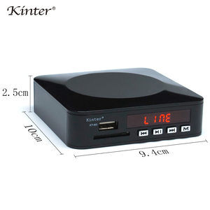 Image 4 - Kinter M3 mini stereo amplifier 12V SD USB input to AV play MP3 MP5 format supply power adapter remote control