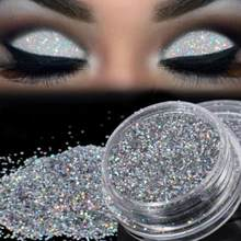 Beauty Eyeshadow Sparkly Make-Up Glitter Losse Poeder Oogschaduw Zilveren Oogschaduw Pigment Oogschaduw Drop Ship 1.24(China)