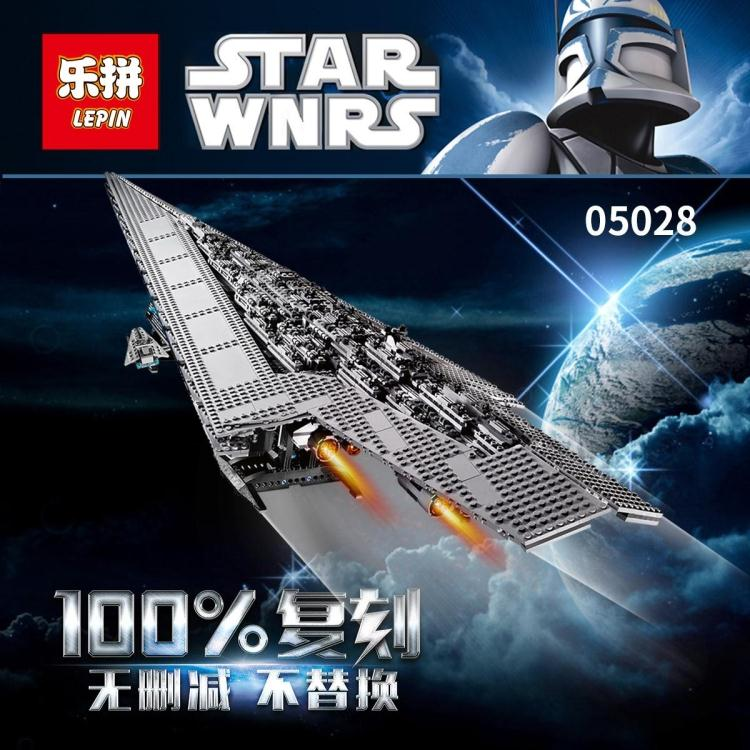 LEPIN 05028 3208PCS Star Wars Building Blocks Imperial Star Destroyer Model action Bricks Toys Compatible legoed 75055 lepin 22001 pirate ship imperial warships model building block briks toys gift 1717pcs compatible legoed 10210