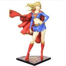 Горячая Аниме Фигурка 21 см DC Comics bisuhujo статуя Супергерл возвращается мультяшная игрушка фигурка Коллекция Модель Кукла Подарки