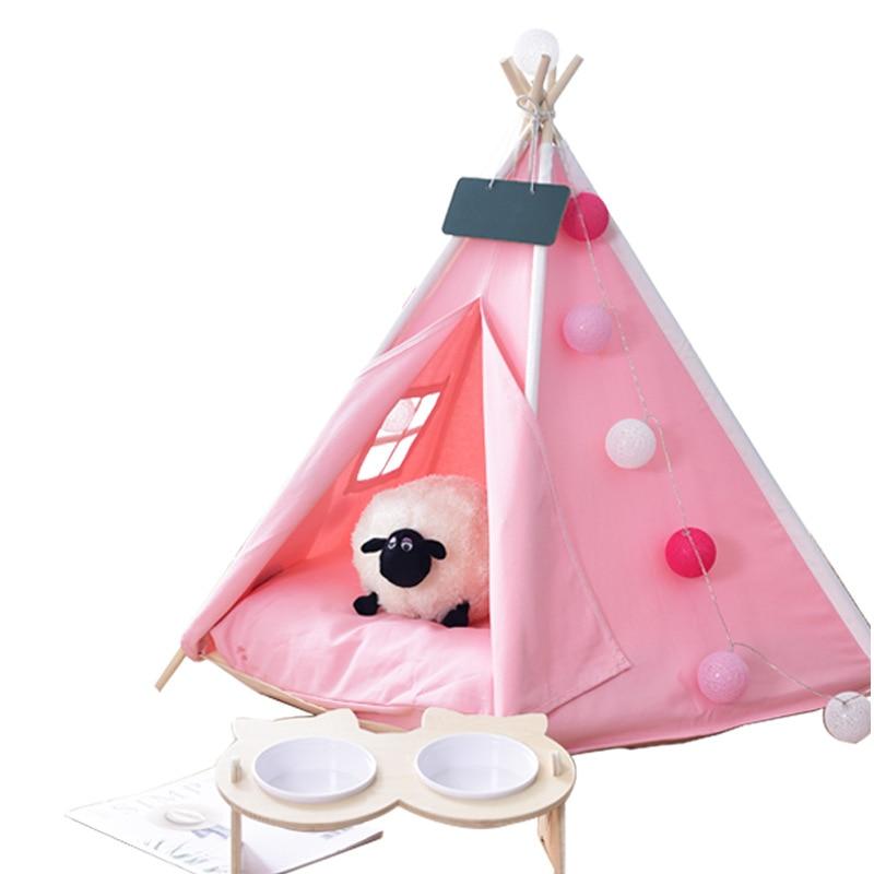 Toile de coton petite et moyenne couleur Pure pour animaux de compagnie tente fabricants nid pour animaux de compagnie pliable océan boule piscine enfants tente maison