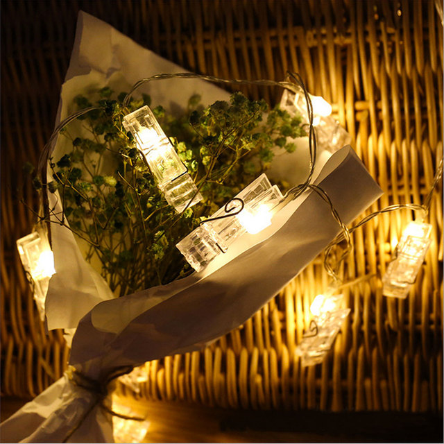 Ramadan fairy lights 3M 20LED Battery Operated Card Pictures Photos Bright LED String Light for Holiday Wedding Party Garland