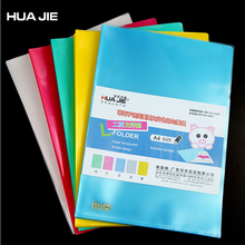 Colorful Transparent Single Clip 5Pcs A4 File Bag Document Bag File Folder Stationery Filing Product School Office Supply HE310B transparent file document bag 12pcs paper organizer desktop storage bag file folder filing product school office supplies hf118