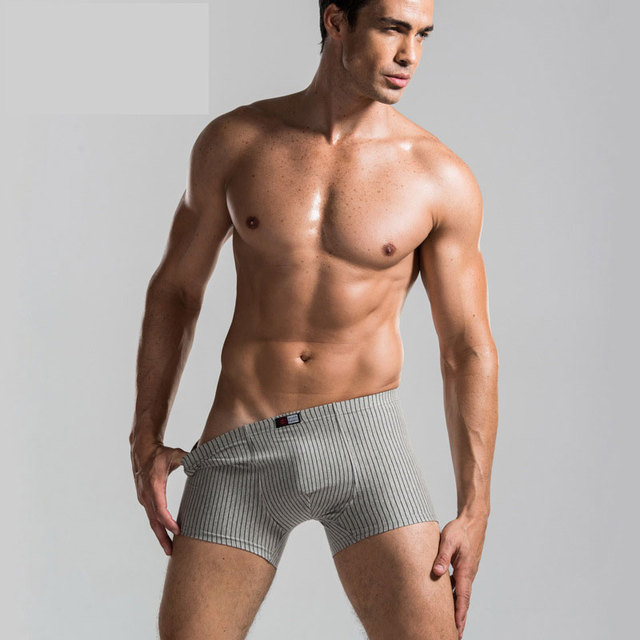 Man UnderpantsThree Pieces In One Box Underwear Combed Cotton Elastic Comfortable U Convex Stripe Breathable Men Boxer