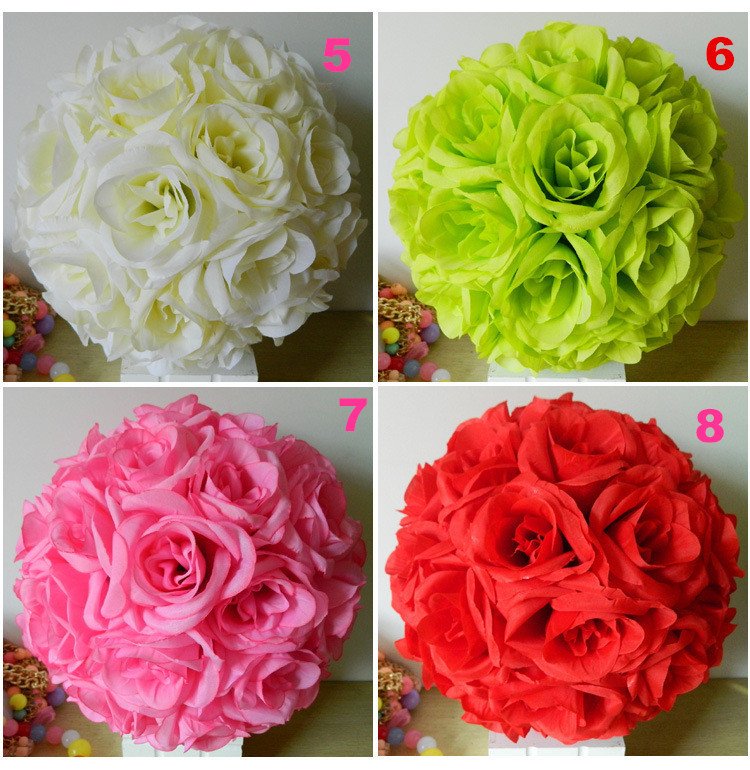 Wholesale mixed size high quality silk flowers centerpieces wholesale mixed size high quality silk flowers centerpieces weddings flower ball centerpieces decorative kissing balls red in artificial dried flowers mightylinksfo