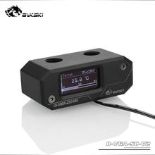 BYKSKI OLED Digital Display Water Temperature Meter use for GPU Block Adapter Add in Radiator G1/4' Thermometer Sensor Fitting bykski b vga sc al gpu block connection module with temperature display