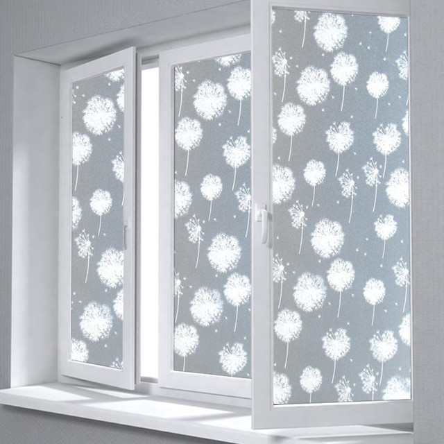 Dandelion Self-adhesive Film Window film Frosted Glass Sliding Door Bathroom Window Stickers Translucent Opaque  sc 1 st  AliExpress.com & Dandelion Self adhesive Film Window film Frosted Glass Sliding Door ...