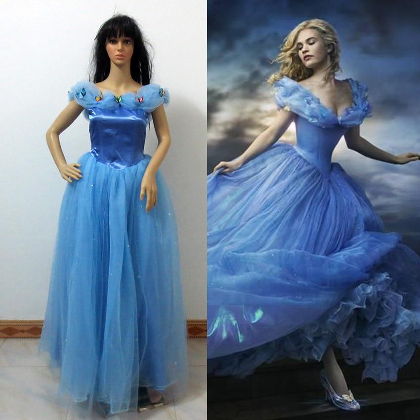 Newest Cinderella Dress Cinderella Cosplay Costume Adult Cinderella Costume Adult