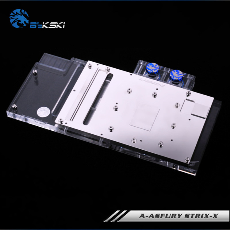 Купить с кэшбэком Bykski A-ASFURY STRIX-X, Full Cover Graphics Card Water Cooling Block RGB/RBW for Asus STRIX-R9 FURY-DC3-4G-Gaming