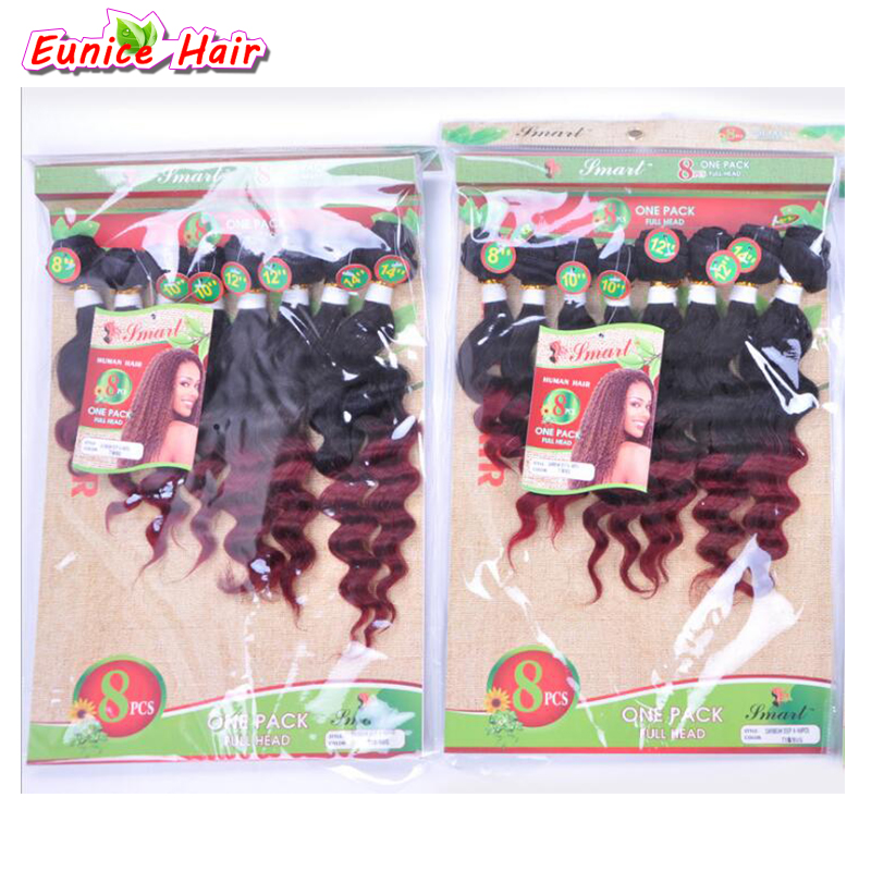 8-14 inch (8pieces/lot) cheap brazilian virgin deep curly hair human loose wave braiding hair bulk for micro braids kinky curly