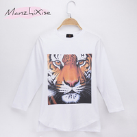 2018 Children T Shirt Animals High Quality Tiger 3D Print Cotton Full Long Boys T Shirts