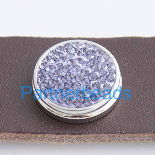 product Hot Sale 18mm rhinestone snap button Clasps with copper bottom for ginger snaps jewelry from www partnerbeads com KB2323
