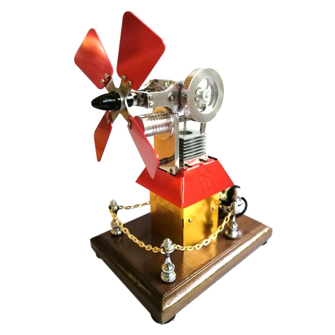 Butane alimenté moulin à vent cabine forme Stirling moteur modèle générateur jouet apprentissage précoce éducation jouet cadeau pour enfants enfant