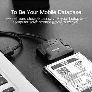Image 2 - Ugreen sata usb3.0 dönüş masaüstü katı hal sürücü 3.5 inç sabit disk aktarım kablosu veri kablosu kolay sürücü hattı 2.0