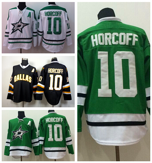 545839f15 Top quality production Dallas Stars Hockey Jerseys Ice Team Color Green  White Black 10 Shawn Horcoff ...