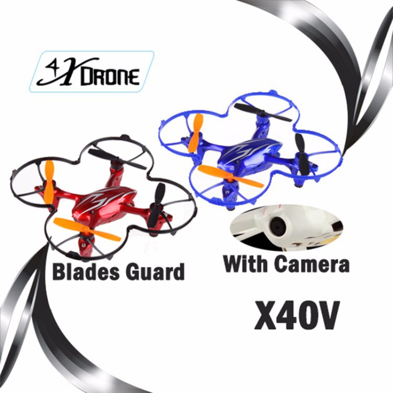 rc Quadcopter with Camera X40V 4CH 2 4G Remote Control Toys for kid RC Helicopter Drone