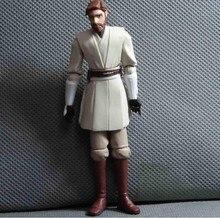 """Frete grátis 1 pcs 9.5 cm = 3.75 """" Star Wars 7 Obi Wan Kenobi modelo Obiwan decoração PVC Action Figure boneca de brinquedo para crianças presente"""