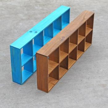 Креативный деревянный держатель настенный Декоративный ящик для хранения деревянные стеллажи цветочный горшок деревянная полка для хране...