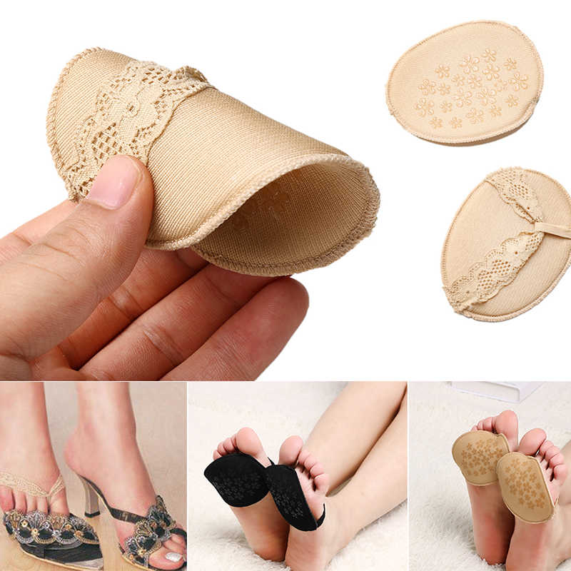 Forefoot Insole Shoes Pads High Heel Soft Insole Anti-Slip Foot Protection T-Shape Cushions Sponge Pain Relief Women Foot Care