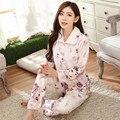 Pijama Home Use Ropa de Otoño/Invierno Mujer Home Use Pijama de Las Mujeres de Talla Grande de Franela Pijamas de Dos Piezas conjuntos