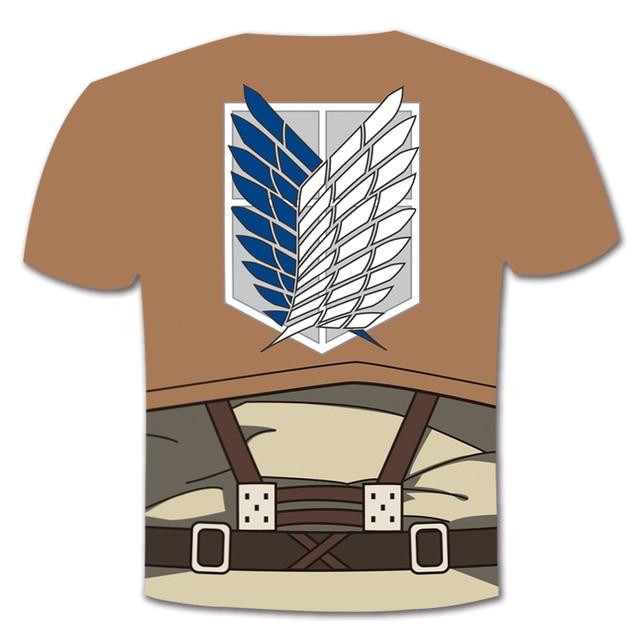 Unisex Anime Attack on Titan T Shirt Cosplay