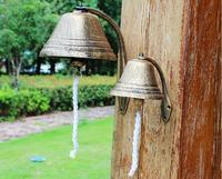 Rustikalen stil gusseisen türklingel hängen wand dekoration schmiedeeisen glocke große glocke  retro hand glocke. Hof dekoration