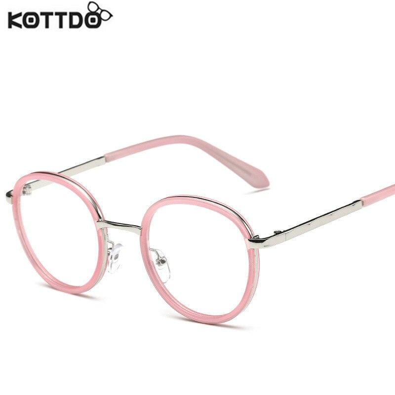Kottdo 2017 أزياء المرأة ريترو جولة نظارات ماركة نظارات معدنية الإطار نظارات الرجال خمر النظارات الملحقات oculos