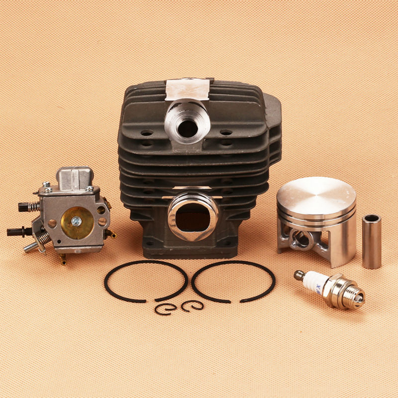 Cylinder Piston Kit Carburetor Carb For Calm 044 MS440 MS 440 Replace 1128-020-1227 Chainsaw 50mm chainsaw parts for stihl 044 046 ms440 ms460 carburetor carb oil fuel line filter 1128 120 0625