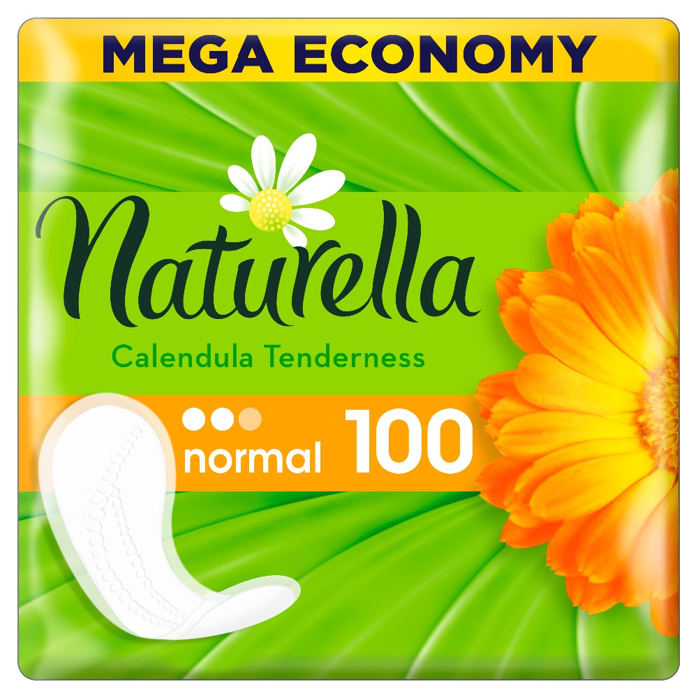 NATURELLA Women's sanitary pads for every day Calendula Tenderness Normal (with the aroma of calendula) Quatro 100pcs 100pcs lot ka2284