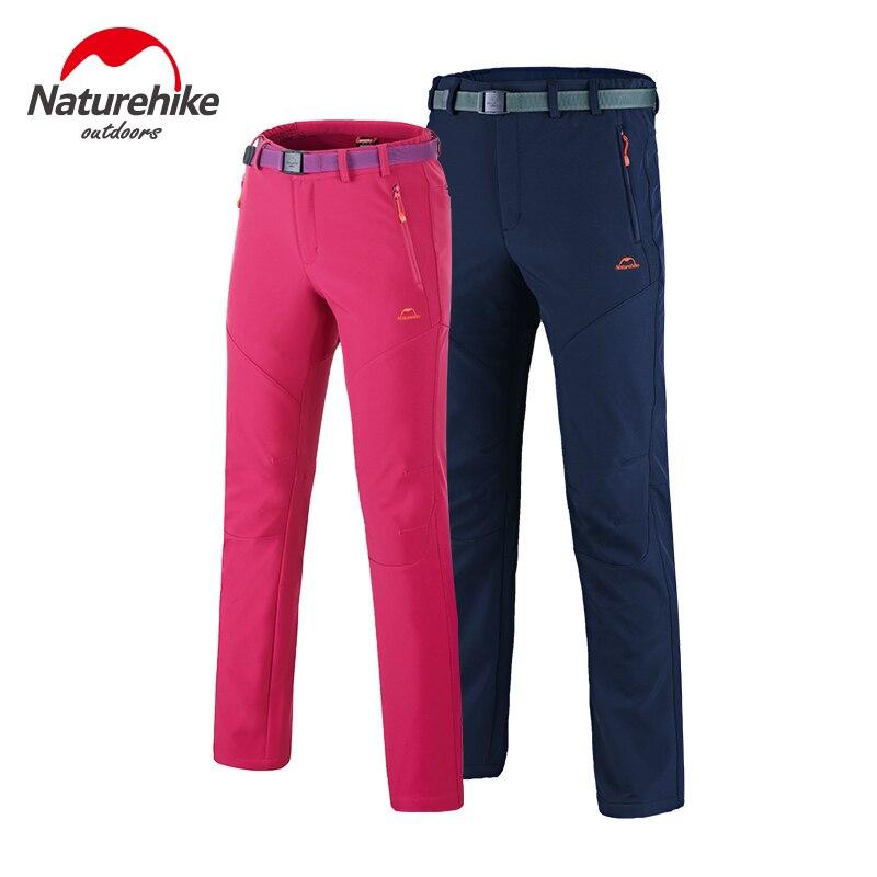 Prix pour Naturehike Softshell Montagne Randonnée Pantalon Hommes Respirant Thermique Pantalon D'hiver Sports de Plein Air Chasse Polaire Pantalon Femmes