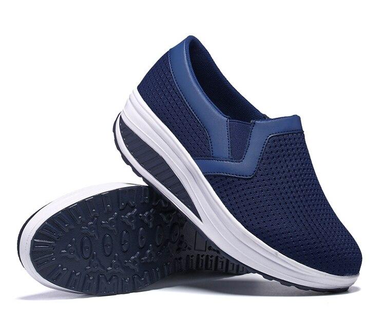transpirables de Primavera plataforma de zapatos gruesos de de Carrefour mujer HUANQIU mujer zapatos para nuevas zapatillas malla planos 2018 verano 5Aj4LRq3
