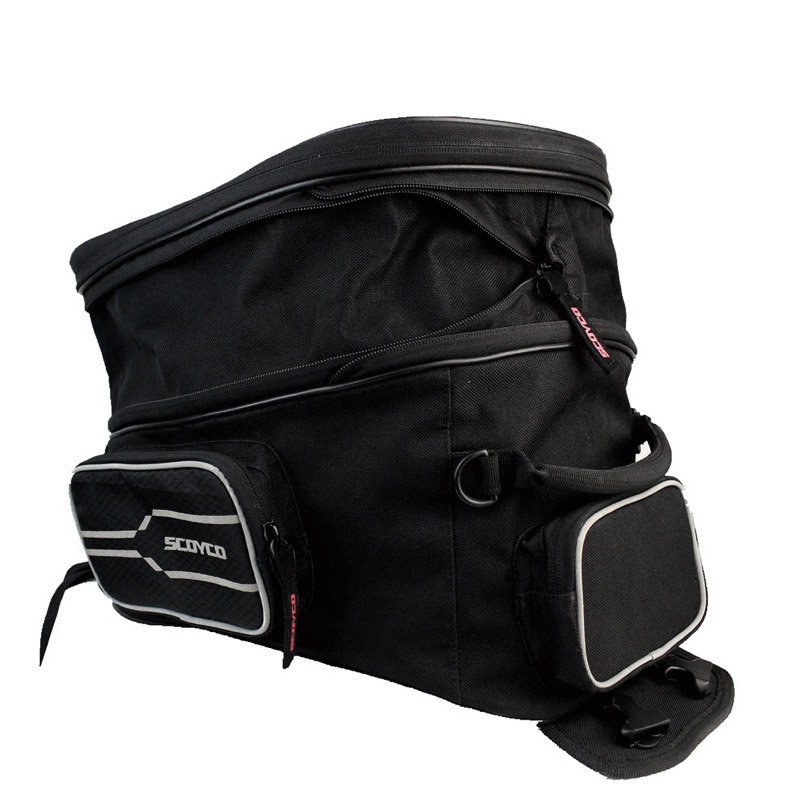 YUANMINGSHI Waterproof Motorcycle Tank Bag Motorbike Oil Fuel Tank Bag Multi-Function Portable Luggage Universal Bike Saddle Bag