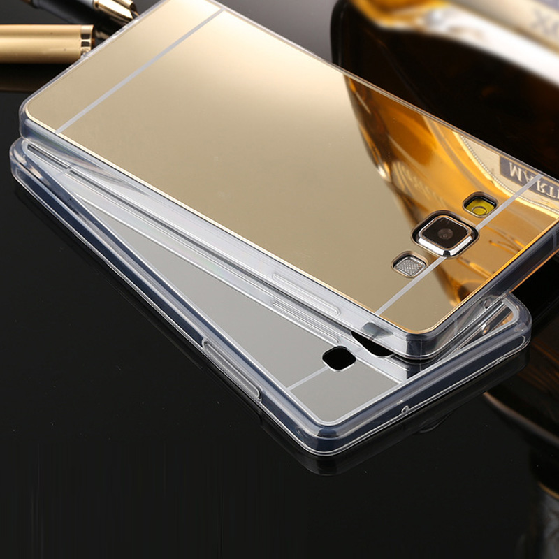 For Samsung A5 2015 Case Soft Mirror TPU Back Phone Case For Samsung Galaxy A5 2015 Cover Plating Transparent Clear Silicon Case image