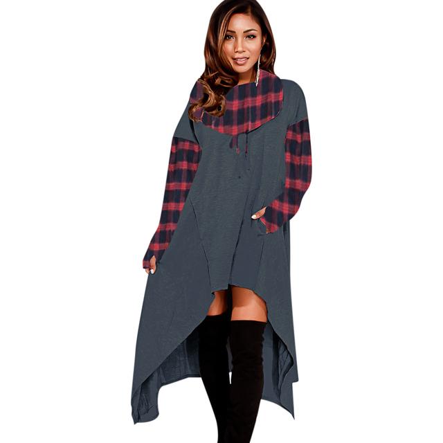 Plus Size Long Sleeve Hooded Tops Autumn Sweatshirts