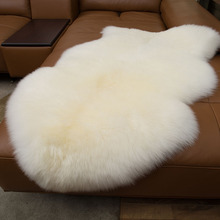 Fur Artificial Sheepskin Hairy Carpet for Living Room Bedroom Rugs Skin Plain Fluffy Area Washable Faux Mat
