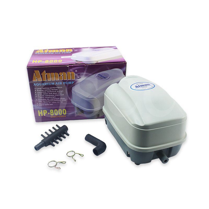 ATMAN ECO Pond Air Pump Low Noise Aerator High Pressure Air Compressor for Koi Fish Septic