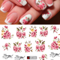 SWEET TREND 1Sheet Fashion Rose Flower Nail Art Water Transfer Stickers Decals Tip Decoration DIY for Nails Accessories A403