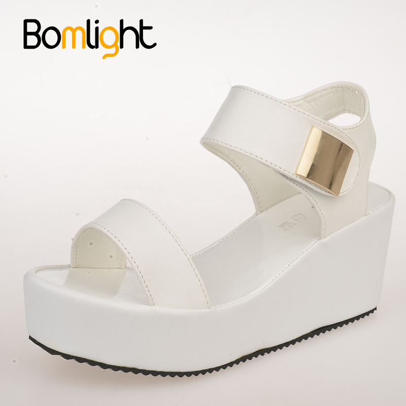 Bomlight 2017 Summer NEW Disgine Women Sandals Shoes Fashion Wedges Bottom Flatform Shoes Casual Wedges Sandals Women Shoes 1