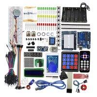 Starter Kit Uno R3 Breadboard And Holder Step Motor / Servo /1602 LCD / Jumper Wire Uno R3 Starter Kit for arduino