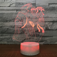 LOL Lee Sin 3D Lamp LED Remote Control Night Light USB 7 Colors Changing Decorative Table Lamp Novelty Gift Legend Of The Dragon