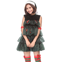 bd9e1d5c5727 Christmas Trees Dress Cosplay Costumes Women Sexy Fancy Sleeveless Christmas  Party Dresses Girls Dance Stage Performance