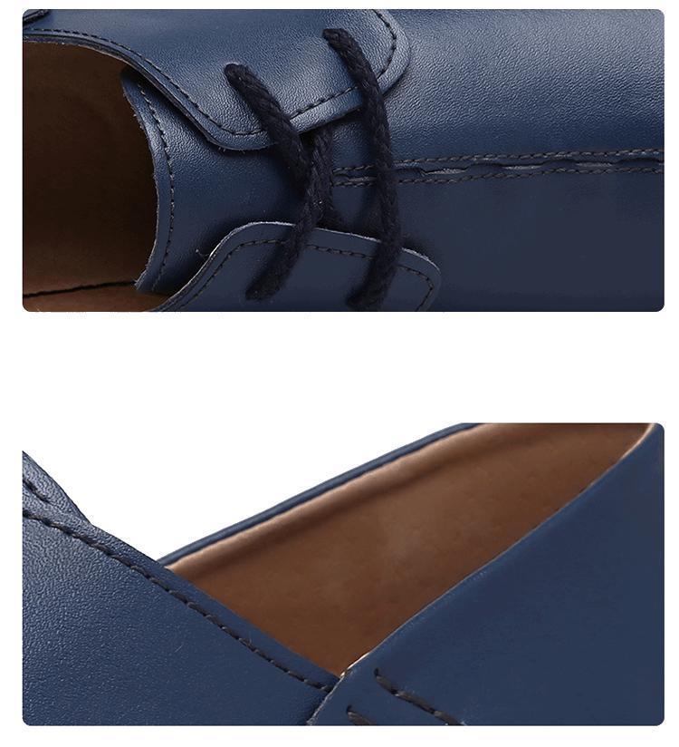 Couro Sapatos De 100 blue Mocassim Buraco Plus Sapatos Negócios Up Genuíno Lace Respirável Suave Black Homens white brown Handmade Condução Size Loafers p5Eqxqnwf
