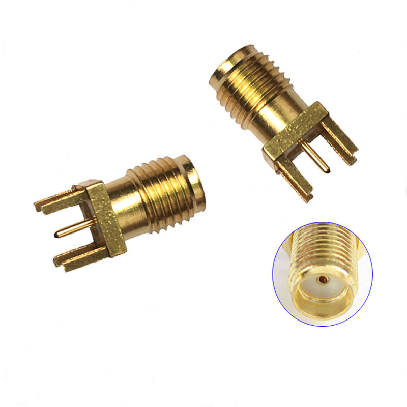 50pcs Antenna Connector High Frequency SMA-KE Biased Pin SMA-KHD Pitch 1.6mm Gold-plated Copper